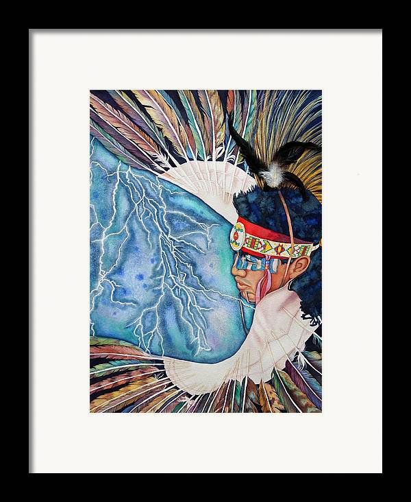 Portrait Framed Print featuring the painting Raindance by Gail Zavala