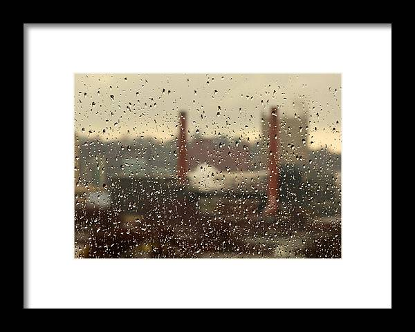 Rain Framed Print featuring the photograph Raindrops by Lisa Kane