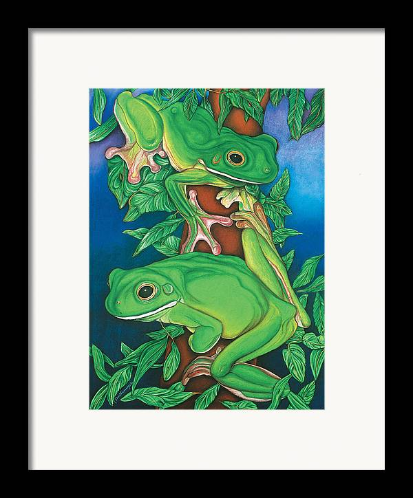 Pastels Framed Print featuring the photograph Rainforest Rendezvous by Lesley Smitheringale