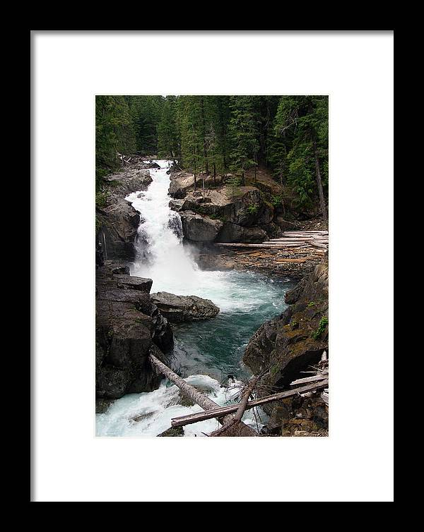 Landscape Framed Print featuring the photograph Rainier Waterfall by Ty Nichols
