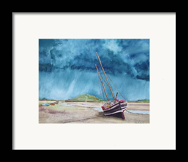 Ship Framed Print featuring the painting Rainmaker by Ally Benbrook