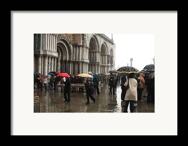 Venice Framed Print featuring the photograph Rainy Day In Venice by Michael Henderson