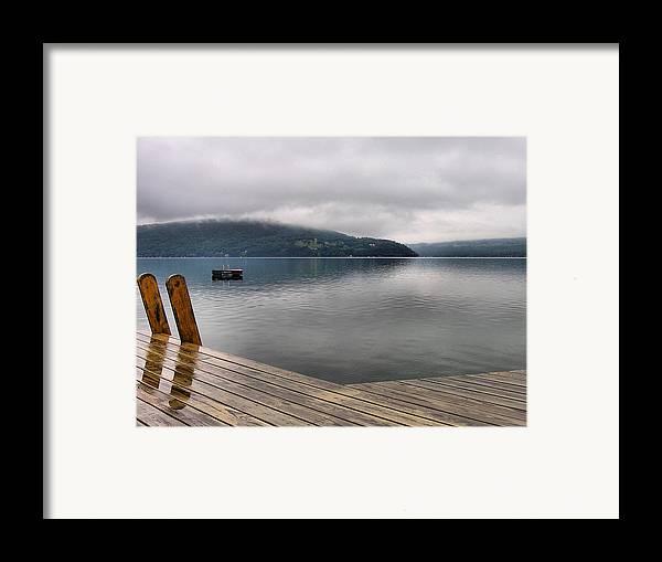 Keuka Lake Framed Print featuring the photograph Rainy Day Keuka by Steven Ainsworth