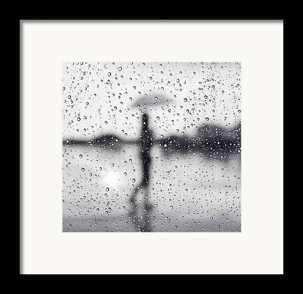 Abstract Framed Print featuring the photograph Rainy Day by Setsiri Silapasuwanchai