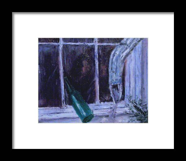 Original Framed Print featuring the painting Rainy Day by Stephen King
