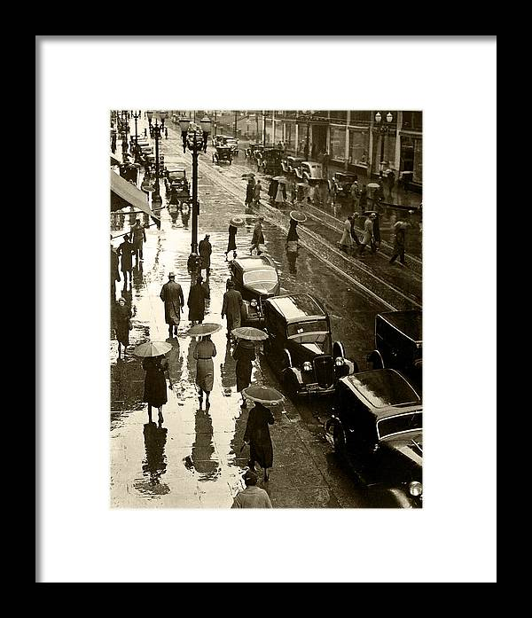 Framed Print featuring the photograph Rainy Day by Unknown