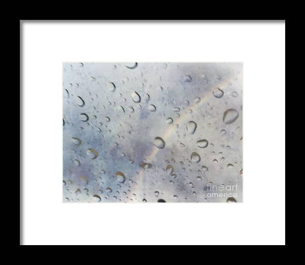 Rainbow Framed Print featuring the photograph Rainy Rainbow by M Welch