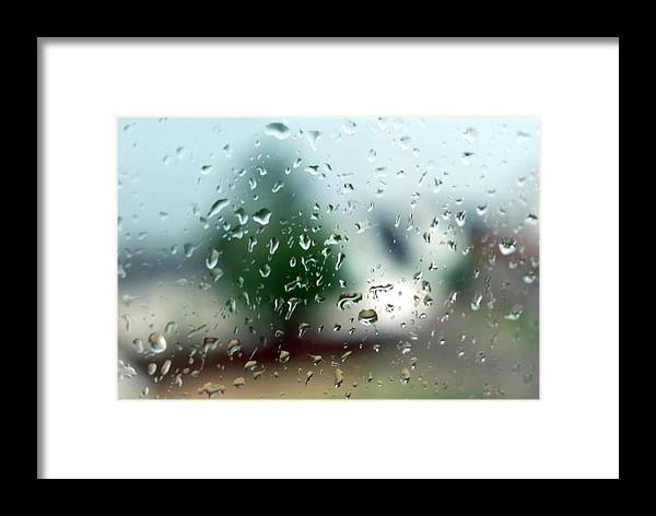 Rainy Framed Print featuring the photograph Rainy Window 1 by Steve Ohlsen
