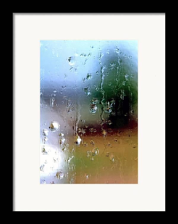 Rain Framed Print featuring the photograph Rainy Window Abstract by Steve Ohlsen