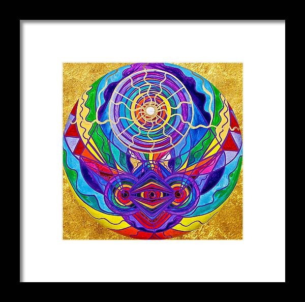 Vibration Framed Print featuring the painting Raise Your Vibration by Teal Eye Print Store