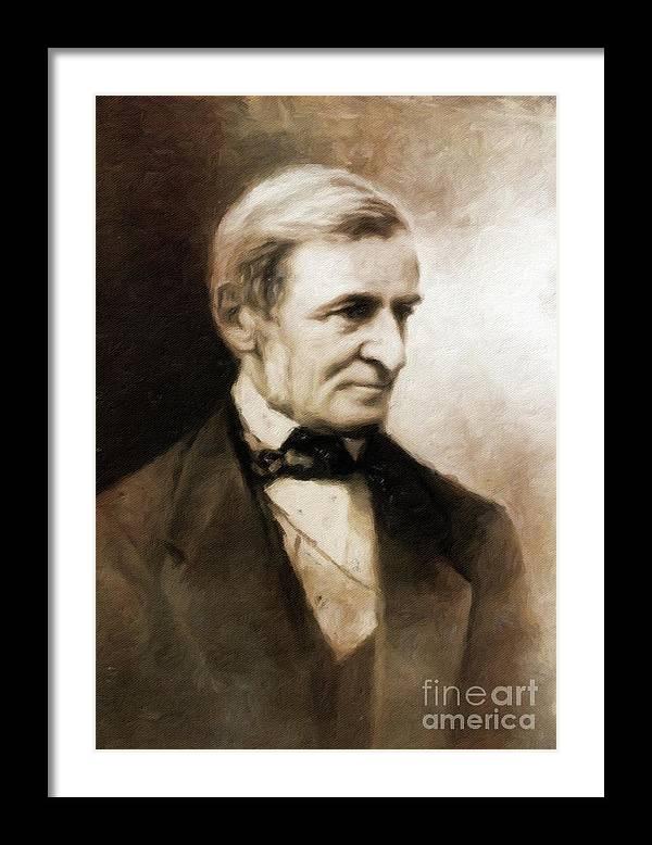 Ralph Waldo Emerson, Literary Legend by Mary Bassett by Esoterica Art Agency