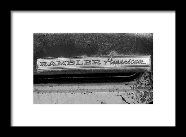 Car Framed Print featuring the photograph Rambler American by Audrey Venute