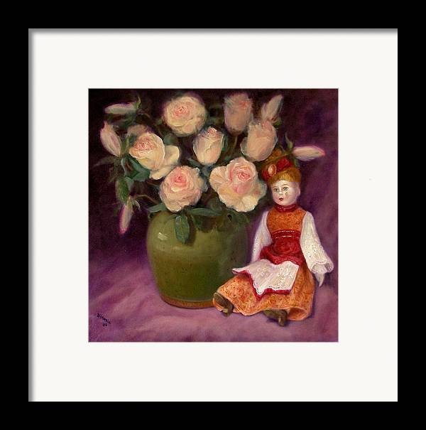 Realism Framed Print featuring the painting Ramblin Rose by Donelli DiMaria