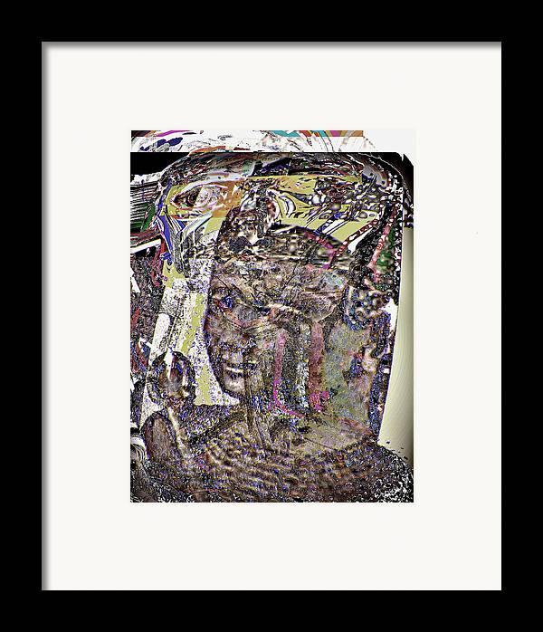 Portrait Framed Print featuring the digital art Rameses II by Noredin Morgan