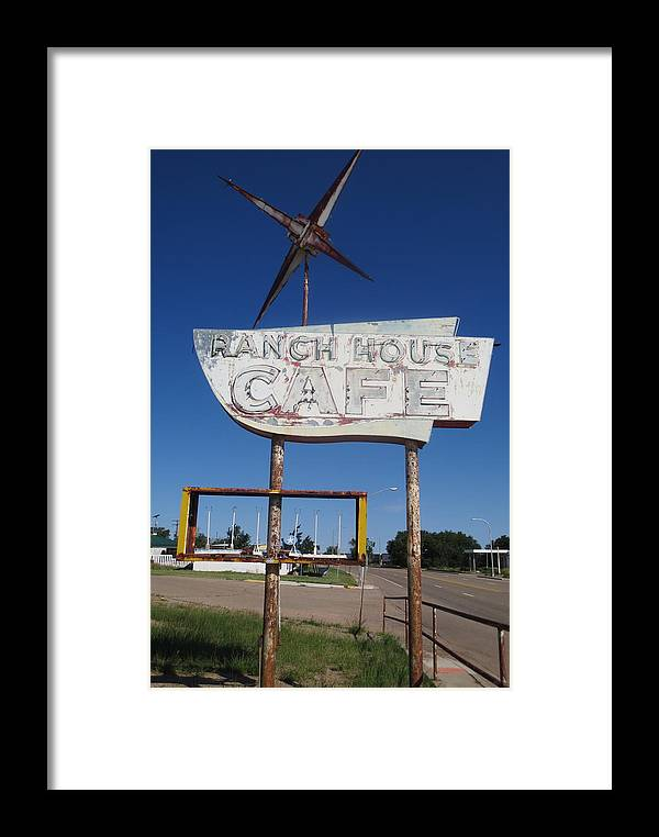 Ranch House Cafe Framed Print featuring the photograph Ranch House Cafe by Gia Marie Houck