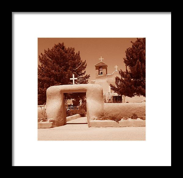Church Framed Print featuring the photograph Ranchos De Taos Church  New Mexico by Wayne Potrafka