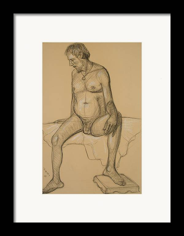 Realism Framed Print featuring the drawing Randy 4 by Donelli DiMaria