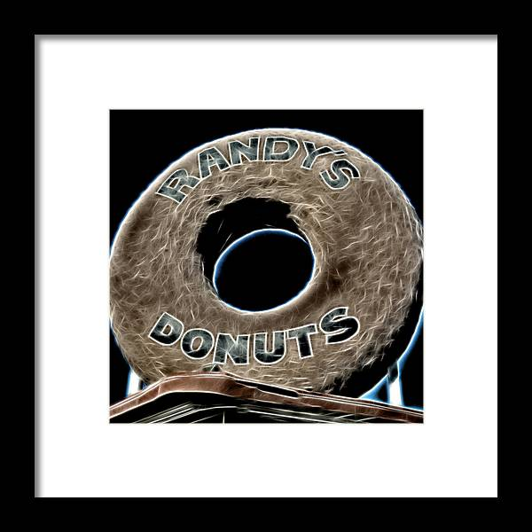 Randy's Donuts Framed Print featuring the photograph Randy's Donuts - 11 by Stephen Stookey