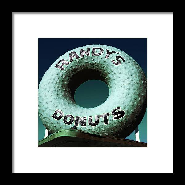 Randy's Donuts Framed Print featuring the photograph Randy's Donuts - 12 by Stephen Stookey