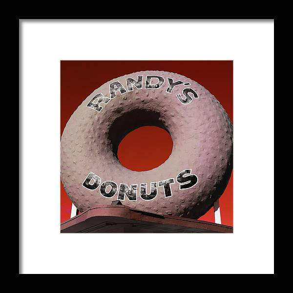 Randy's Donuts Framed Print featuring the photograph Randy's Donuts - 3 by Stephen Stookey