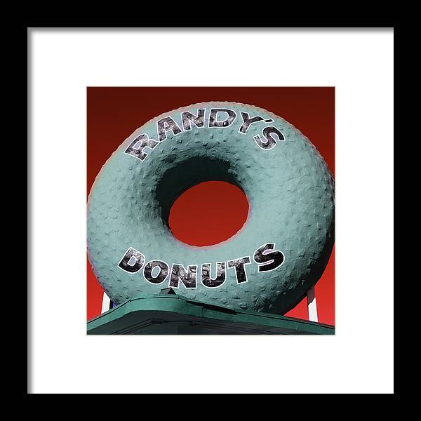 Randy's Donuts Framed Print featuring the photograph Randy's Donuts - 9 by Stephen Stookey