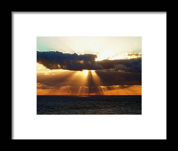 Sunset Framed Print featuring the photograph Randy's Shine by Norman Kraatz