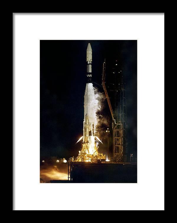 Ranger 1 Framed Print featuring the photograph Ranger 1 Atlas-agena Rocket Launch by Nasavrs