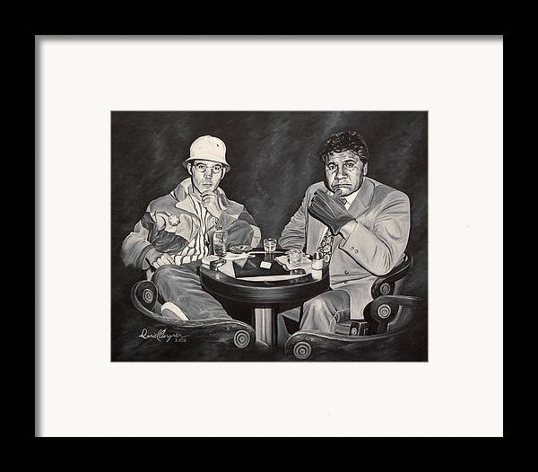 Hst Framed Print featuring the painting Raoul And Dr. Gonzo In Las Vegas by Daniel Bergren