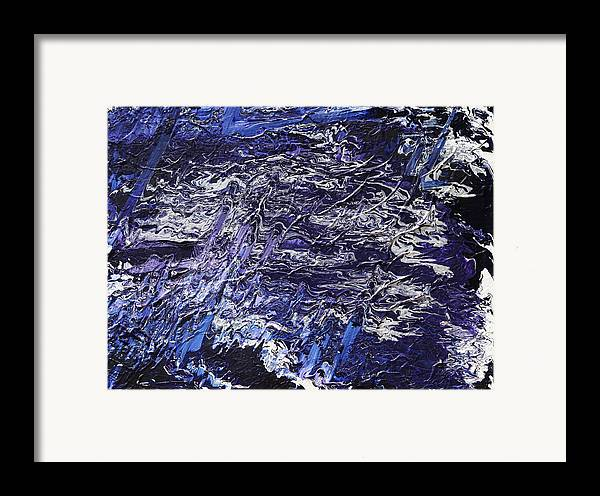 Fusionart Framed Print featuring the painting Rapid by Ralph White