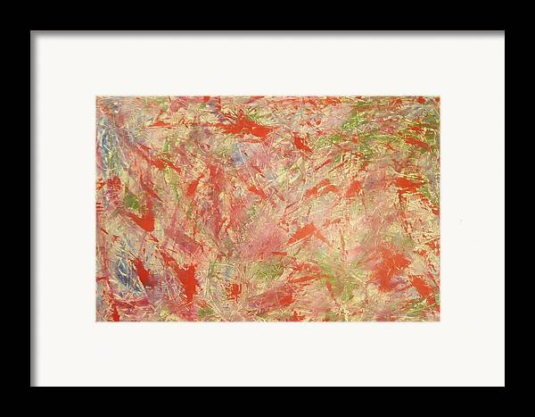 Abstract Framed Print featuring the painting Rapidity by Guillermo Mason