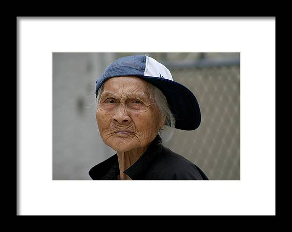 Woman Framed Print featuring the photograph Rappin' Granny by Jason Hochman