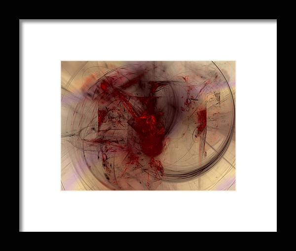 Art Framed Print featuring the digital art Rare Groove by Jeff Iverson