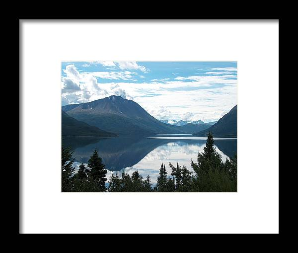 Tutchi Framed Print featuring the photograph Rare Moment On Tutchi Lake by Janet Hall