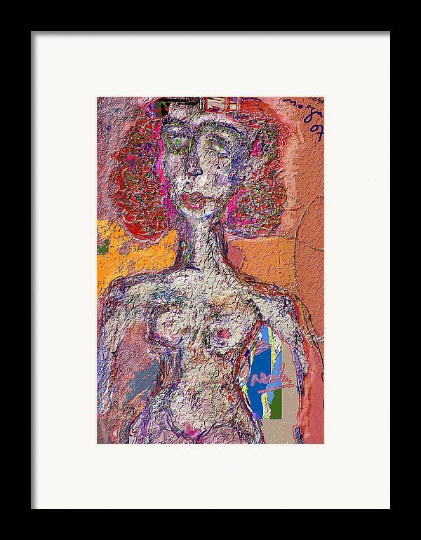 Nude Framed Print featuring the mixed media Rashida by Noredin Morgan