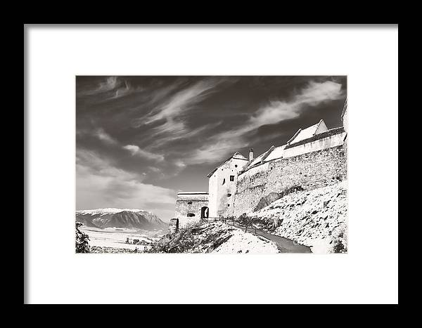 Rasnov Framed Print featuring the photograph Rasnov Fortress by Gabriela Insuratelu