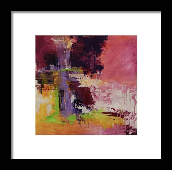 Canvas Print Framed Print featuring the painting Raspberry Beret by K Batson Art