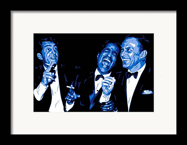 Frank Sinatra Framed Print featuring the digital art Rat Pack At Carnegie Hall by DB Artist