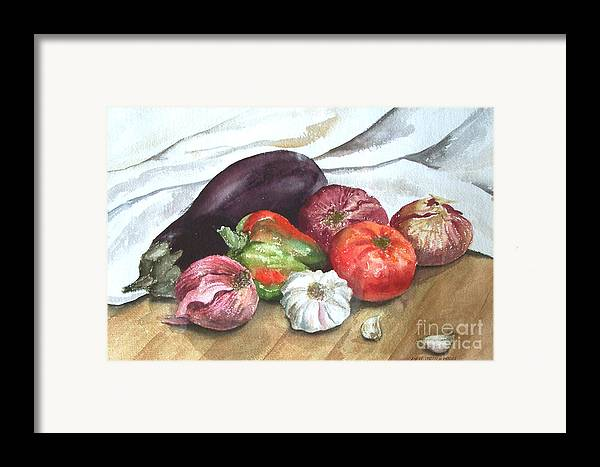 Still Life Framed Print featuring the print Ratatouille by Anne Trotter Hodge