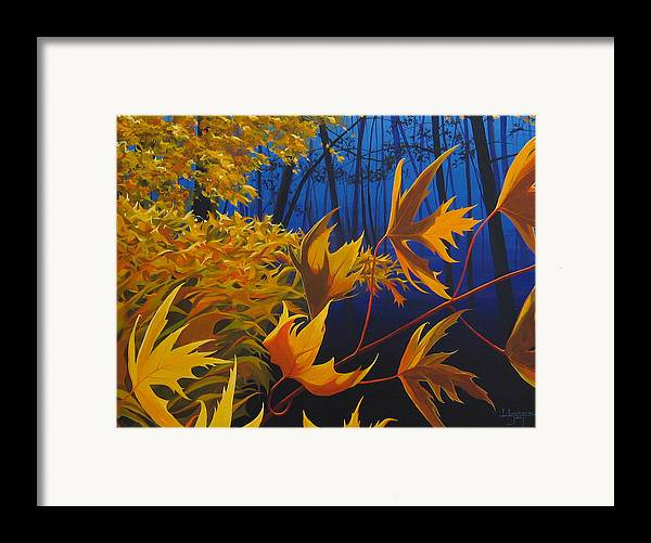 Autumn Leaves Framed Print featuring the painting Raucous October by Hunter Jay
