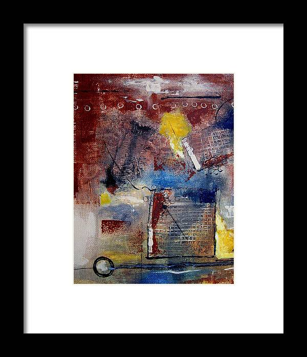 Abstract Framed Print featuring the painting Raw Emotions II by Ruth Palmer