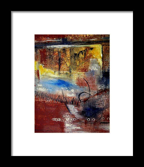 Abstract Framed Print featuring the painting Raw Emotions by Ruth Palmer