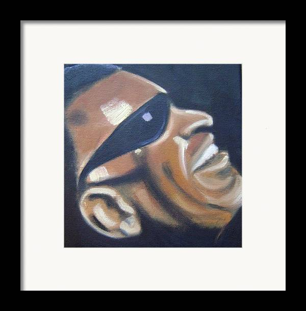 Ray Charles Framed Print featuring the painting Ray Charles by Toni Berry