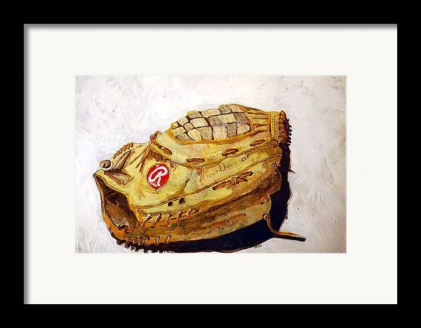 Outfield Framed Print featuring the painting Rbg 36 Dale Murphy by Jame Hayes