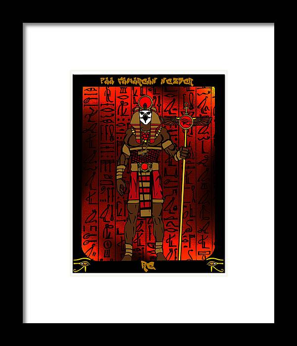 Re Framed Print featuring the digital art Re by Derrick Colter