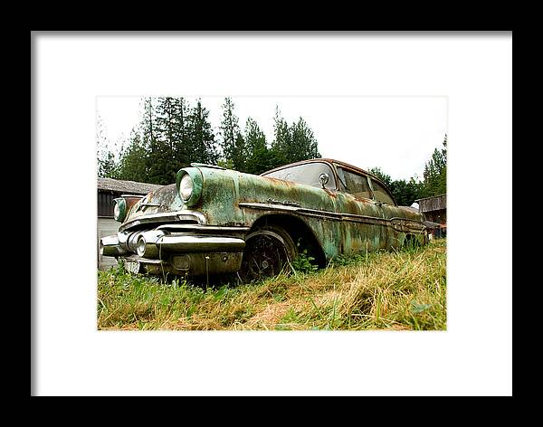 Pontiac Framed Print featuring the photograph Re-tired by Jennifer Owen