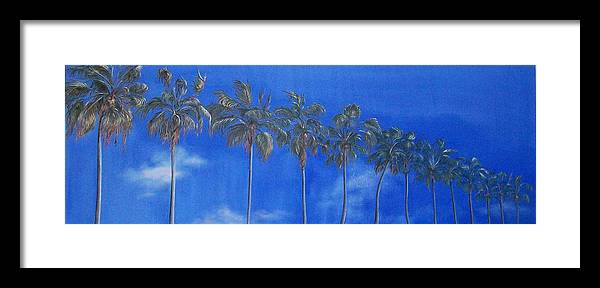 Landscape Framed Print featuring the painting Reach For The Sky by Irene Corey