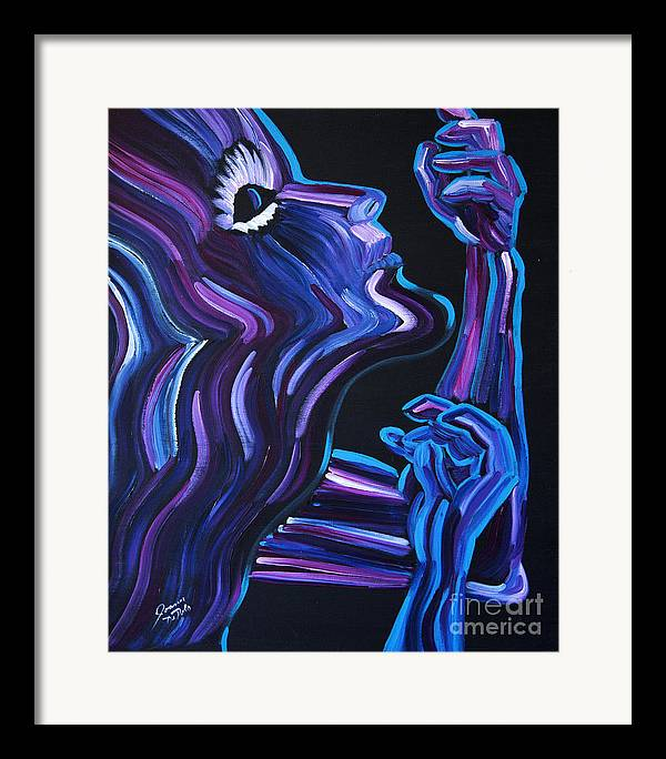Figure Framed Print featuring the painting Reach by JoAnn DePolo