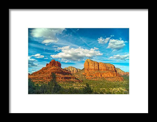 Sedona Framed Print featuring the photograph Reach Up And Touch The Sky by Steven Barrows