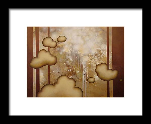 Symbolic Framed Print featuring the painting Read Between The Lines by Monica James