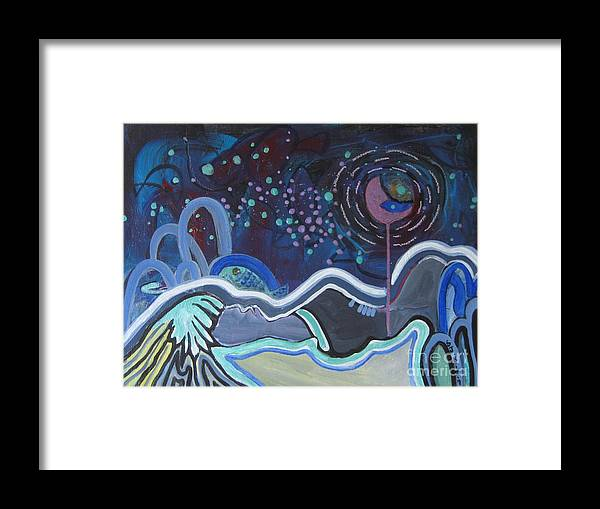 Abstract Paintings Framed Print featuring the painting Read My Mind5 by Seon-Jeong Kim